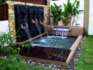 Kolam minimalis air terjun